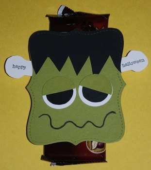 Frankenstein Candy Bar Student/Staff Halloween gifts (sold in sets of 6)