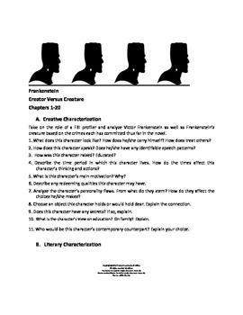 Frankenstein Characterization Activity
