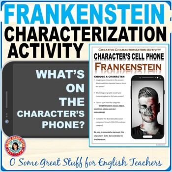 Frankenstein Characterization Cell Phone Activity--Fun and Creative