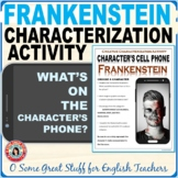 FRANKENSTEIN CHARACTERIZATION ACTIVITY Fun and Creative