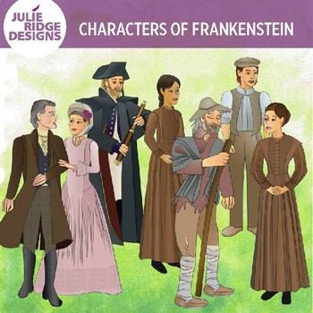 Frankenstein Characters clip art — 24 illustrations