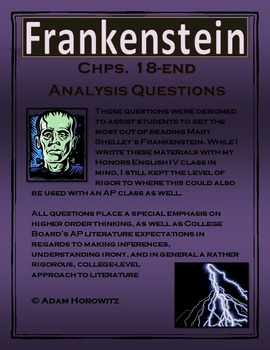 Frankenstein Chp. 18-end Analysis Questions