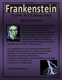 Frankenstein Chps. 9-17 Analysis Questions