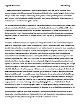 Frankenstein Close Reading Activity_ Chapter 5
