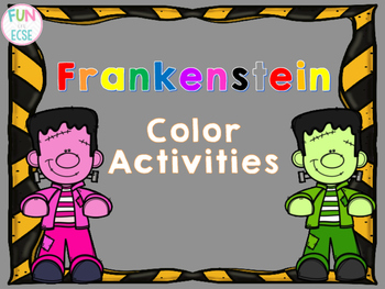 Frankenstein Color Activities