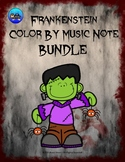 Frankenstein Color By Music Note Rhythm Coloring BUNDLE