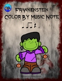Frankenstein Color By Music Note Rhythm Coloring - Half Note