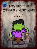 Frankenstein Color By Music Note Rhythm Coloring - Quarter Rest