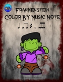 Frankenstein Color By Music Note Rhythm Coloring - Sixteenth Notes