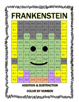 Frankenstein Color By Number