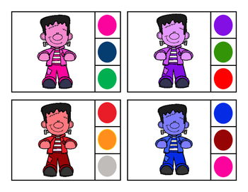 Frankenstein  Color Clip Cards