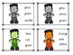 Frankenstein Color Sight Word Clip Cards