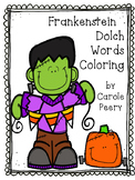 Frankenstein Coloring Dolch Words