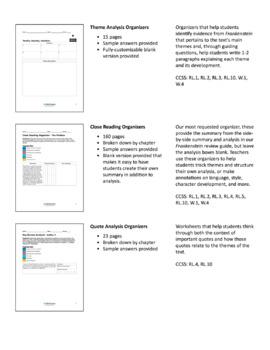 Frankenstein – Comprehension and Analysis Bundle
