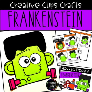 graphic regarding Halloween Craft Printable identify Frankenstein Craft Printable: Halloween Craft Inventive Clips Crafts