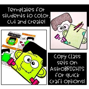 Frankenstein Craft Printable: Halloween Craft {Creative Clips Crafts}