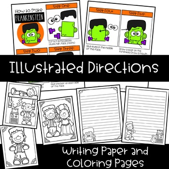 graphic relating to Printable Holloween Crafts identified as Frankenstein Craft Printable: Halloween Craft Inventive Clips Crafts