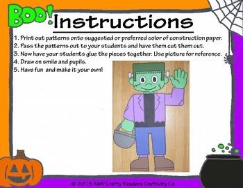 Frankenstein Craftivity