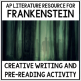 Frankenstein Creative Writing Pre-Reading Challenge