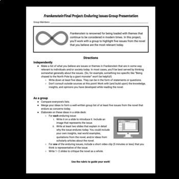 Frankenstein Final Project: Enduring Ideas Presentation