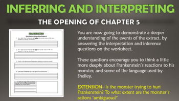 Frankenstein: Description of the Monster!