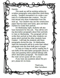 Frankenstein Descriptive Paragraph Unit