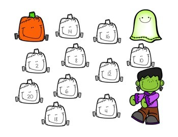 Frankenstein Doubles Game {Freebie!}