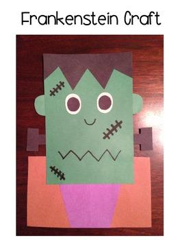 Frankenstein & Dracula Craftivity