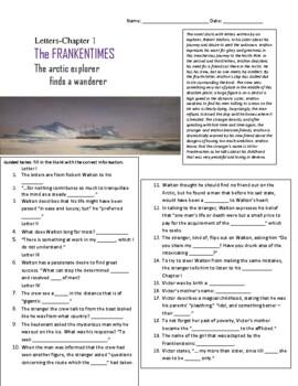Frankentimes: Frankenstein Entire Novel During Reading Worksheets