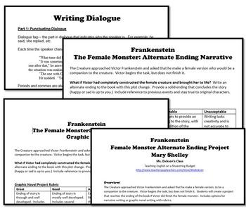 Frankenstein Female Monster Alternate Ending Project (Mary Shelley)