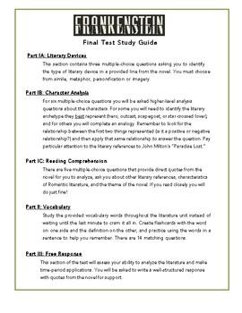 Frankenstein Final Test Study Guide