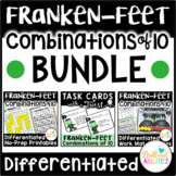 Frankenstein Feet Compose & Decompose 10: DIFFERENTIATED ACTIVITIES BUNDLE