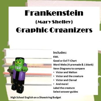 Frankenstein Graphic Organizers (Mary Shelley)