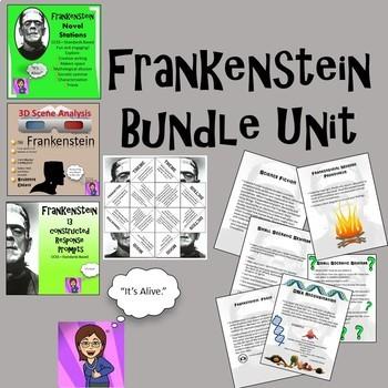 Frankenstein Growing Bundle Novel Unit