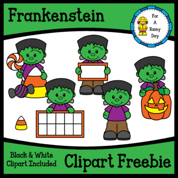 Frankenstein (Halloween) Clipart Freebie by For A Rainy ...