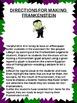 Frankenstein Halloween Craftivity With Measurement Practice