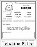 Frankenstein - Halloween - Editable Word Worksheet w/ Theme Focus