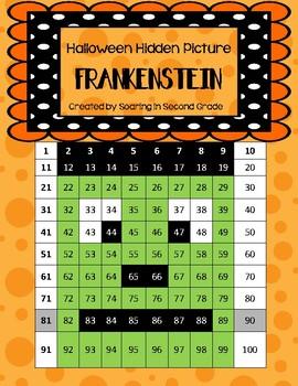 Frankenstein Halloween Hidden Picture
