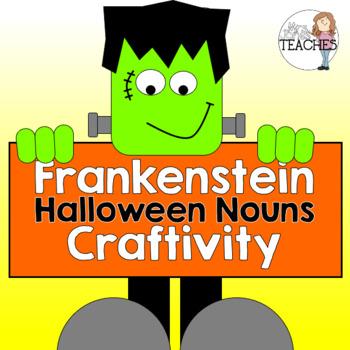 Frankenstein {Halloween Nouns} Craftivity