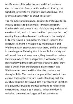 Frankenstein Handout