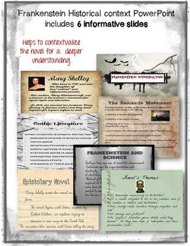 Frankenstein Historical Context PowerPoint