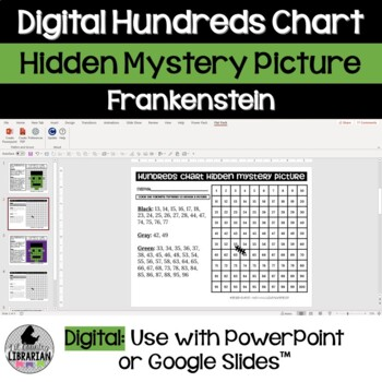 Frankenstein Hundreds Chart Hidden Picture Activity for Halloween Math