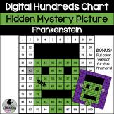 Frankenstein Hundreds Chart Hidden Picture Activity for Halloween Math