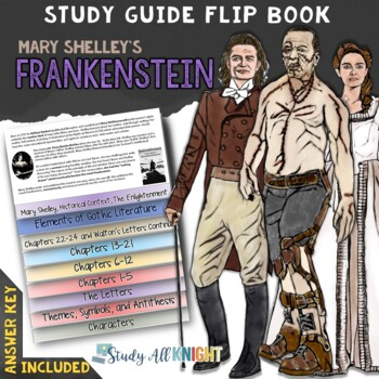 frankenstein novel study literature guide flip book by danielle knight rh teacherspayteachers com