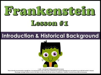 Frankenstein Introduction & Historical Background (Unit Lesson #1)