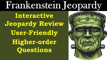 Frankenstein by Mary Shelley - Jeopardy Test Review