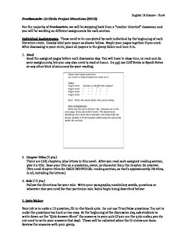 Frankenstein Literature Circle (Guided Reading Activity)