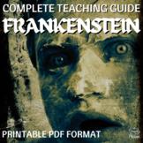 Frankenstein Literature Guide, Lesson Bundle for Mary Shelley's Frankenstein
