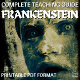 Frankenstein Literature Guide, Lessons and Tests for Mary Shelley's Frankenstein