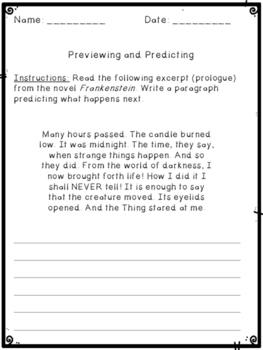 Frankenstein Literature Unit